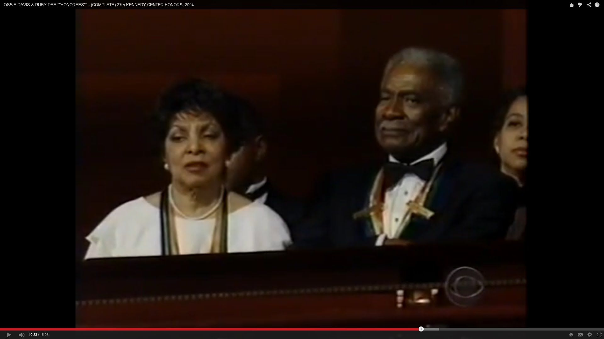 "OSSIE DAVIS & RUBY DEE """"HONOREES"""" - (COMPLETE) 27th KENNEDY CENTER HON..."