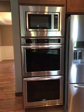Kitchens Double Oven With Built In Microwave Above
