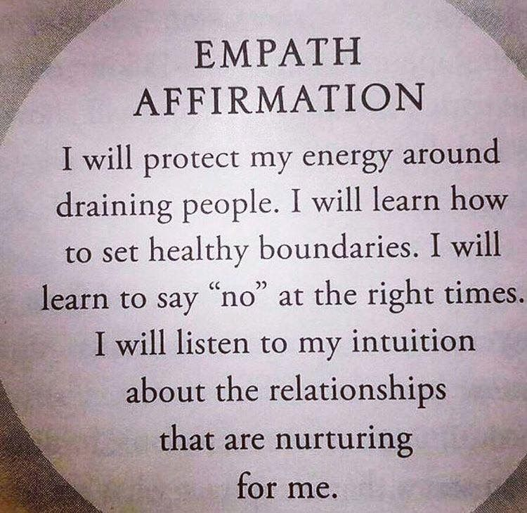 Empath Affirmation Mind And Healing Therapy Affirmations