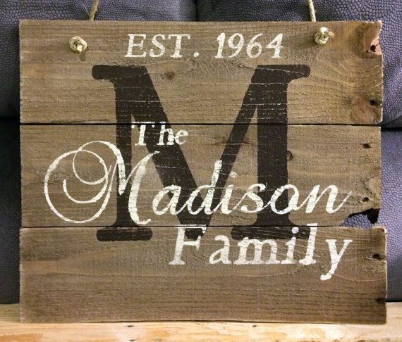 this hand painted wood sign comes personalized with your family name and establis custom. Black Bedroom Furniture Sets. Home Design Ideas