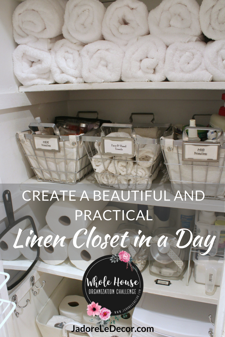 www.JadoreLeDecor.com | Let me show you how I was able to organize and maintain my linen closet after spending just one day organizing it.