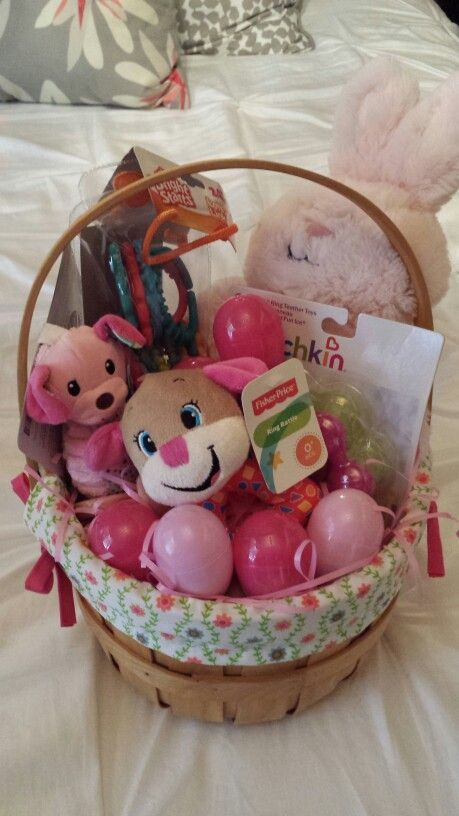 Babys first easter basket easter basket for baby girl easter babys first easter basket easter basket for baby girl negle Image collections