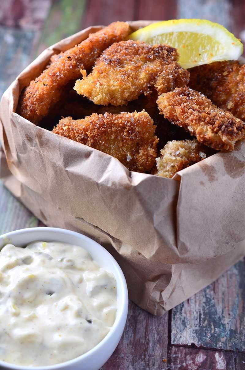 Crispy fish nuggets with cajun tartar sauce recetas para - Platos faciles para cocinar ...
