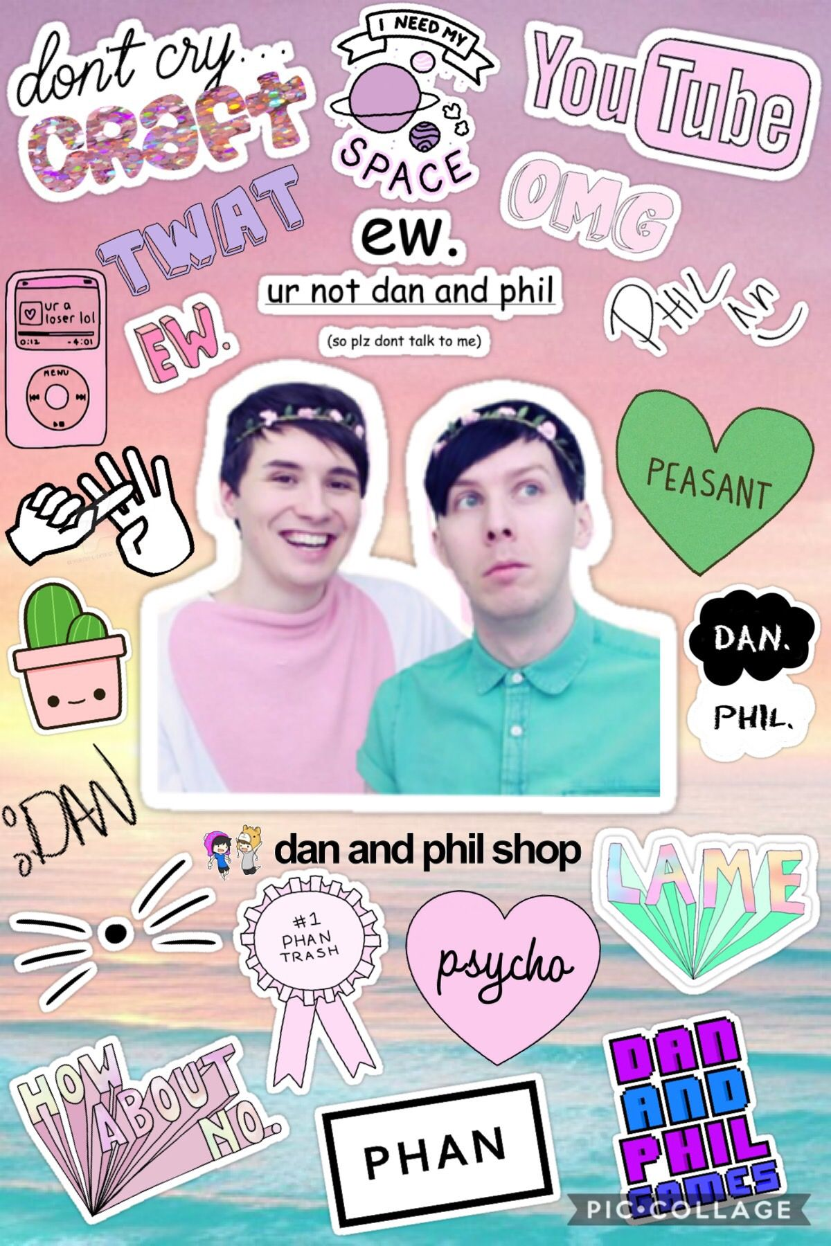 Dan And Phil Pastel Collage Dan And Phil Dan And Phill Phil