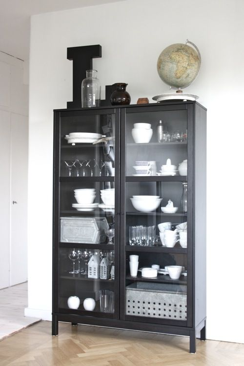 another curio cabinet