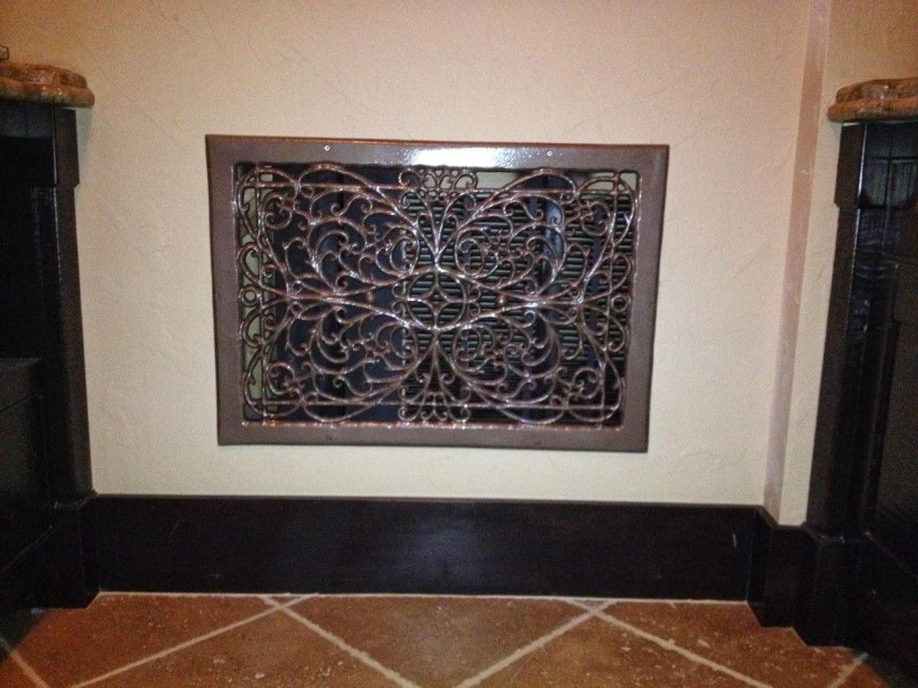Decorative wall vent covers are purchasable at Lowes and