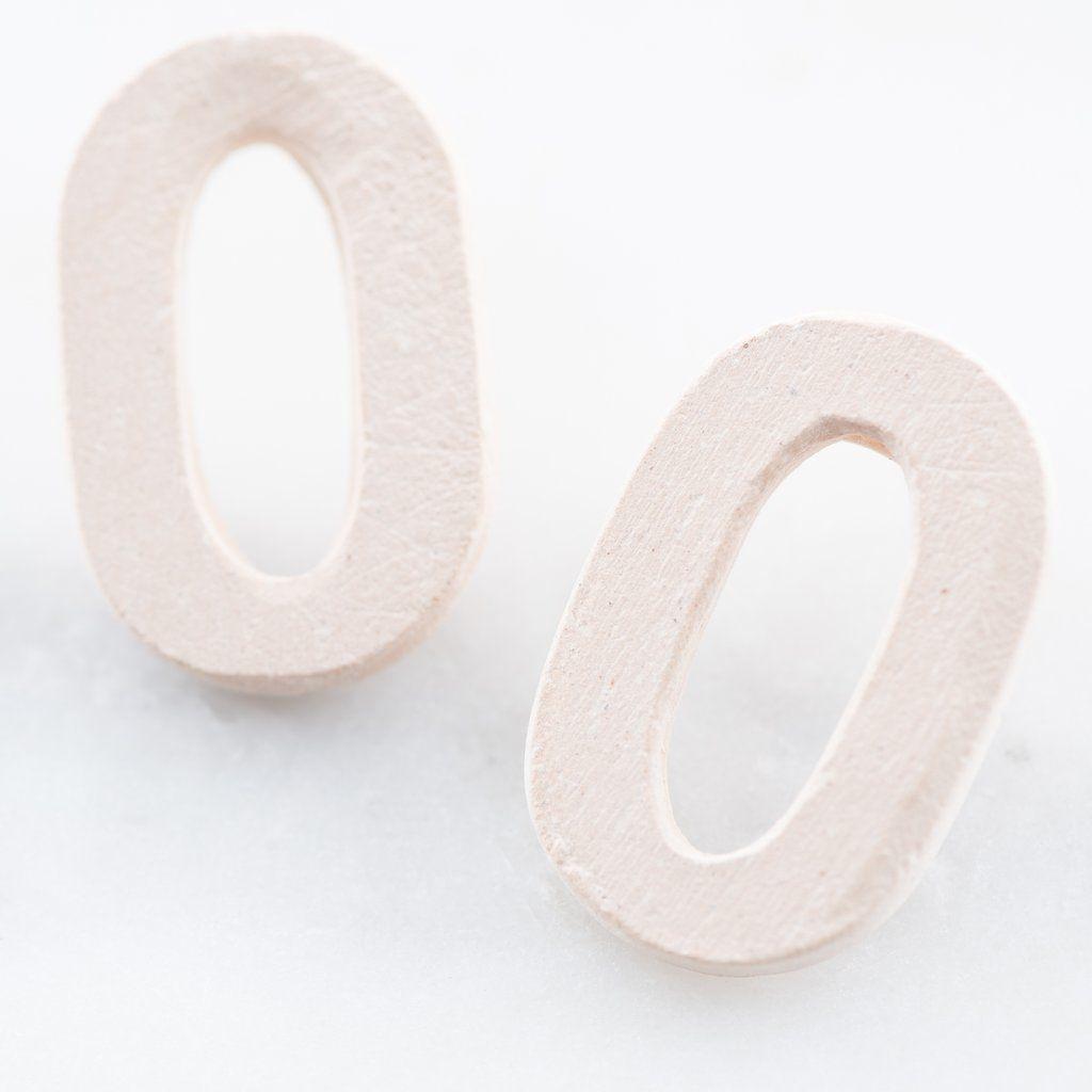 Cream Cami Ceramic Earrings Ceramic Earring Joanna Gaines Jewelry Earring Sale