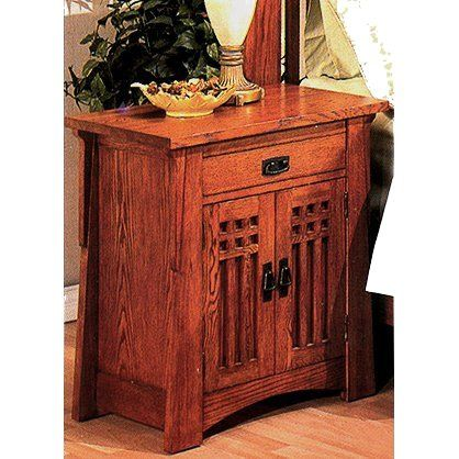 Mission Craftsman Nightstand W/Doors Http://www.wayfair.com/AYCA Furniture  Bungalow 1 Drawer Nightstand AP50661 AYCA1034.html