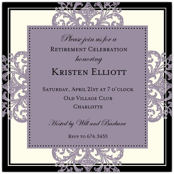 17 Best images about Invitations on Pinterest | Retirement ...