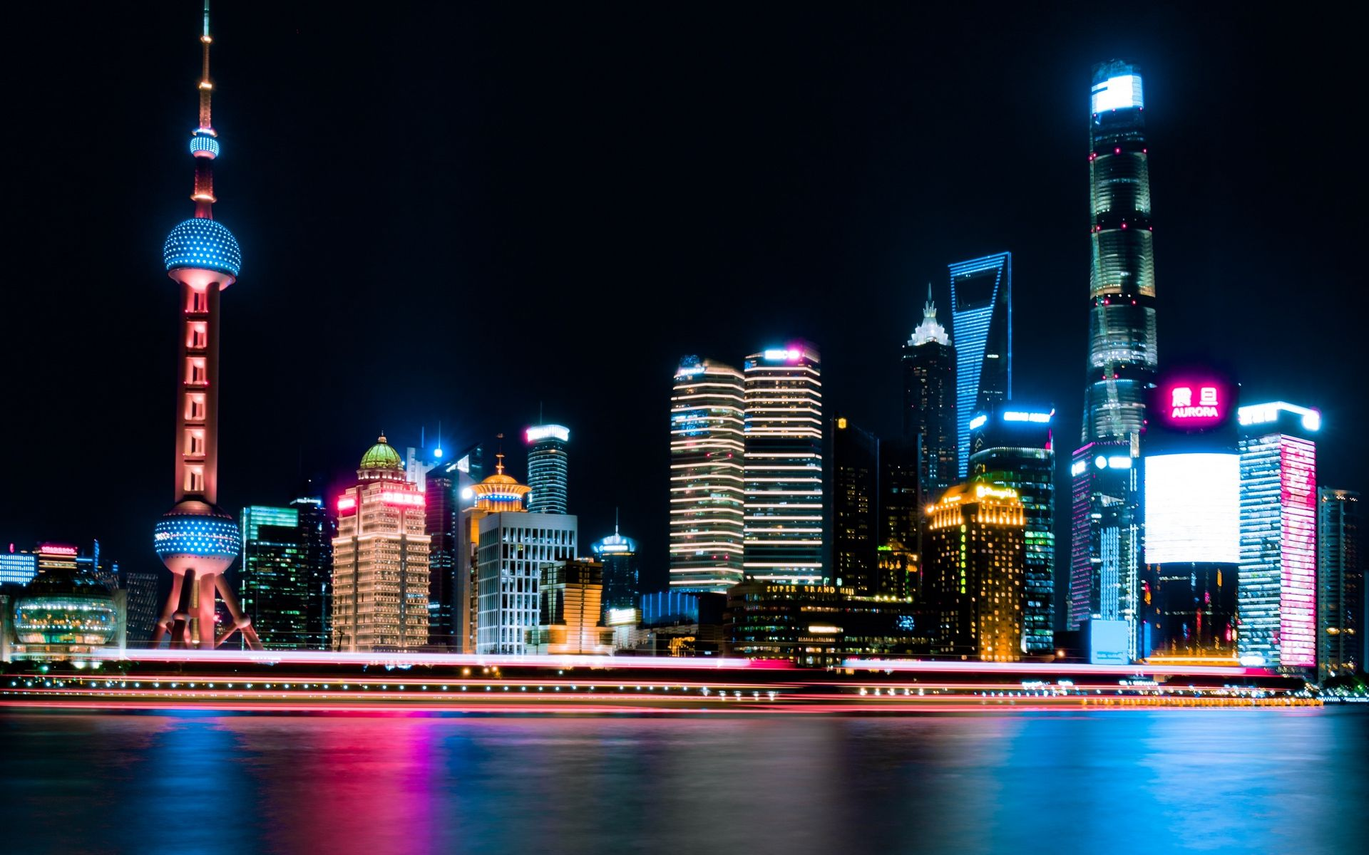 Shanghai China Weather Hd Wallpaper City Lights Wallpaper City Lights At Night Cityscape Wallpaper