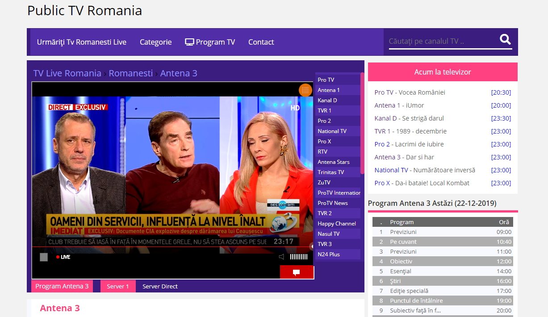 Antena 3 Online Gratis pe Net Online, Tv, Public