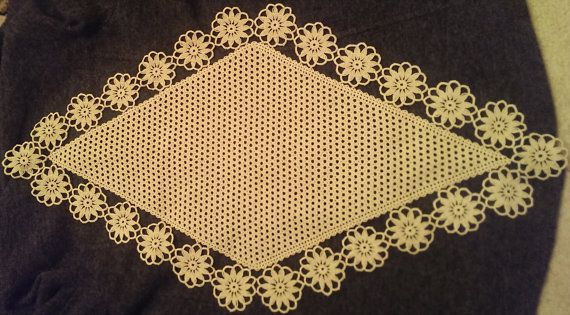 Romanian crochet table cloth by tableclothRomania on Etsy