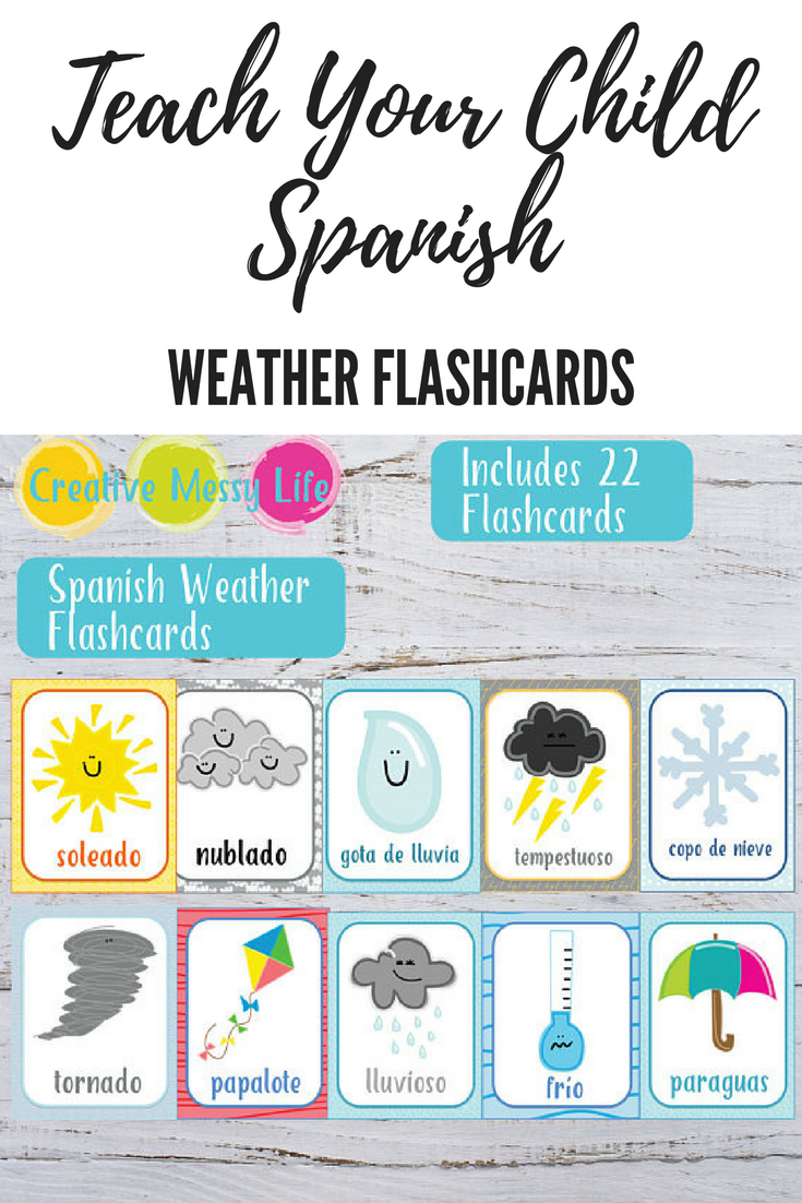 I love these Spanish weather flashcards. Creative and simple way to ...