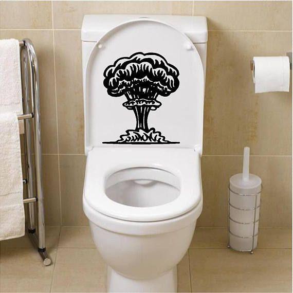 Mushroom Cloud Decal Toilet Decal Bathroom Decals Toilet
