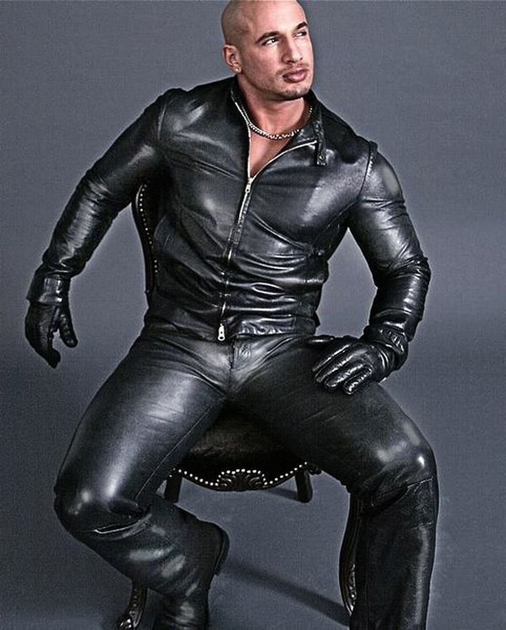 Gay leather male master