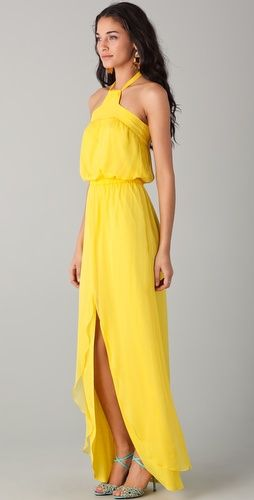 Shopbop...Miguelina...Sammy Maxi Dress...Colour=Lemon...Silk Chiffon...Beautiful