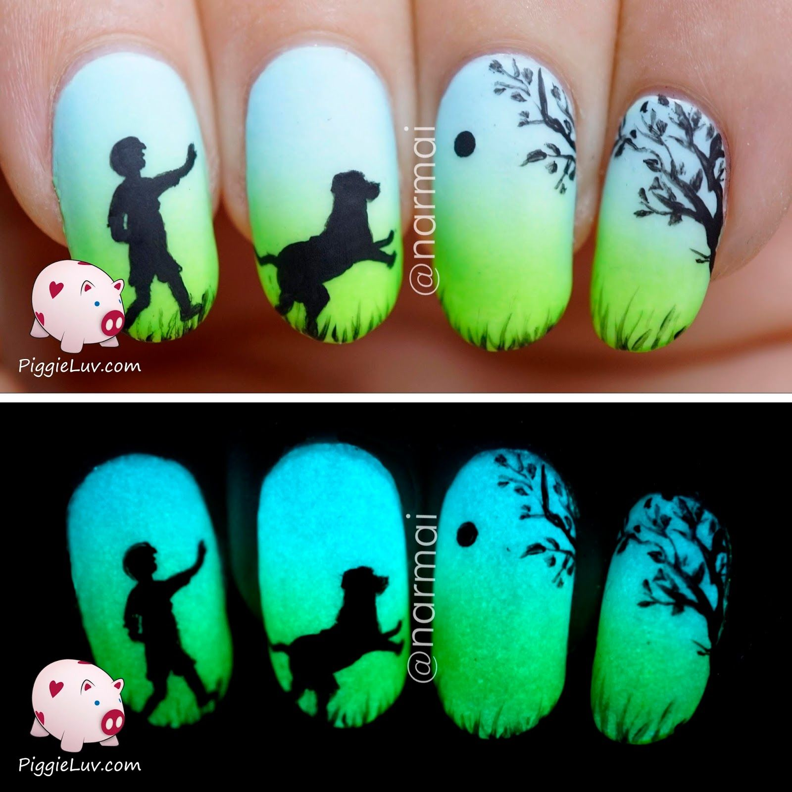 Epic Dog Story (5 glow in the dark manis!!!) | Boys, Manicures and ...
