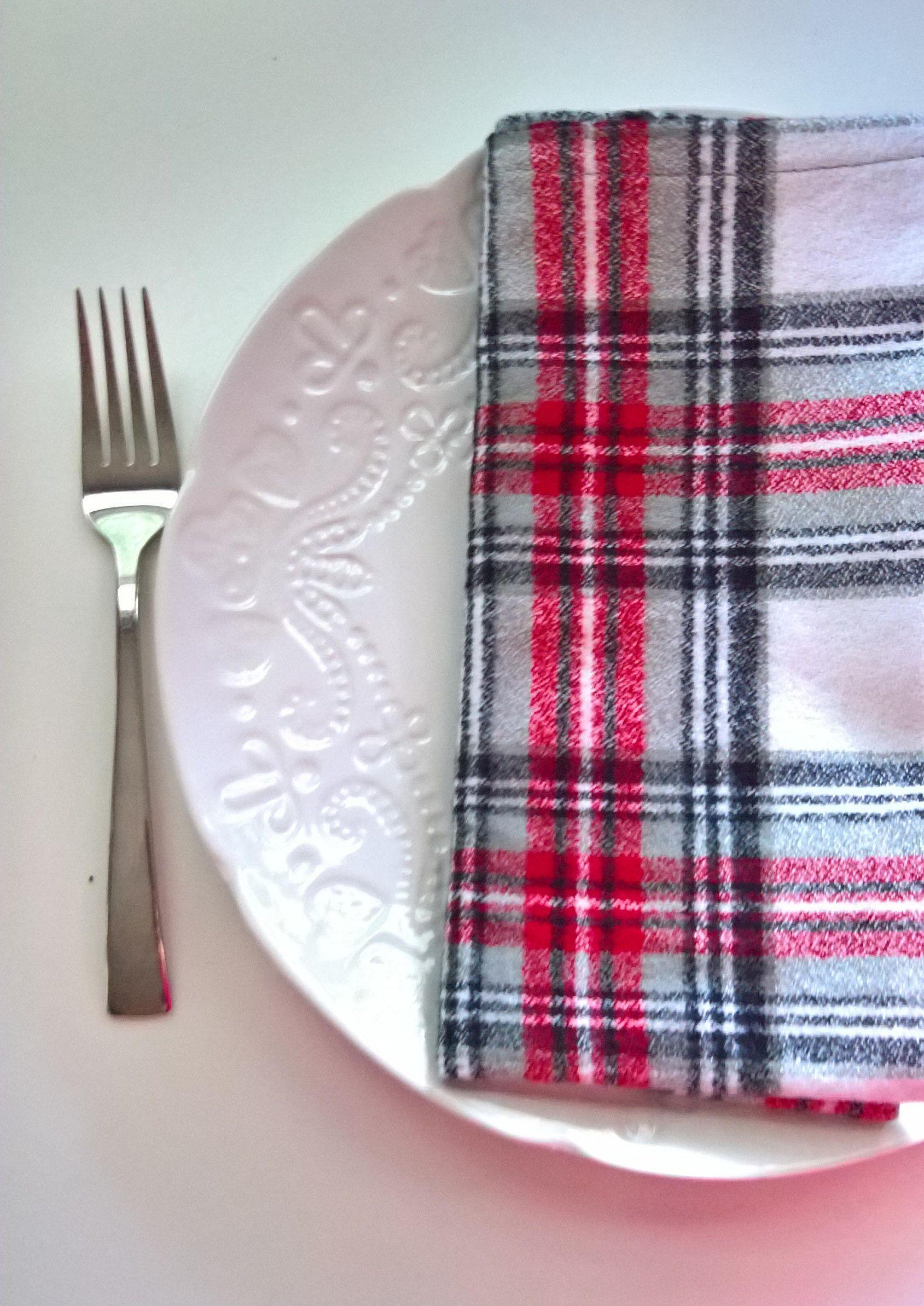 plaid flannel napkins thanksgiving napkins christmas napkins fall napkins cloth napkins - Christmas Napkins Cloth