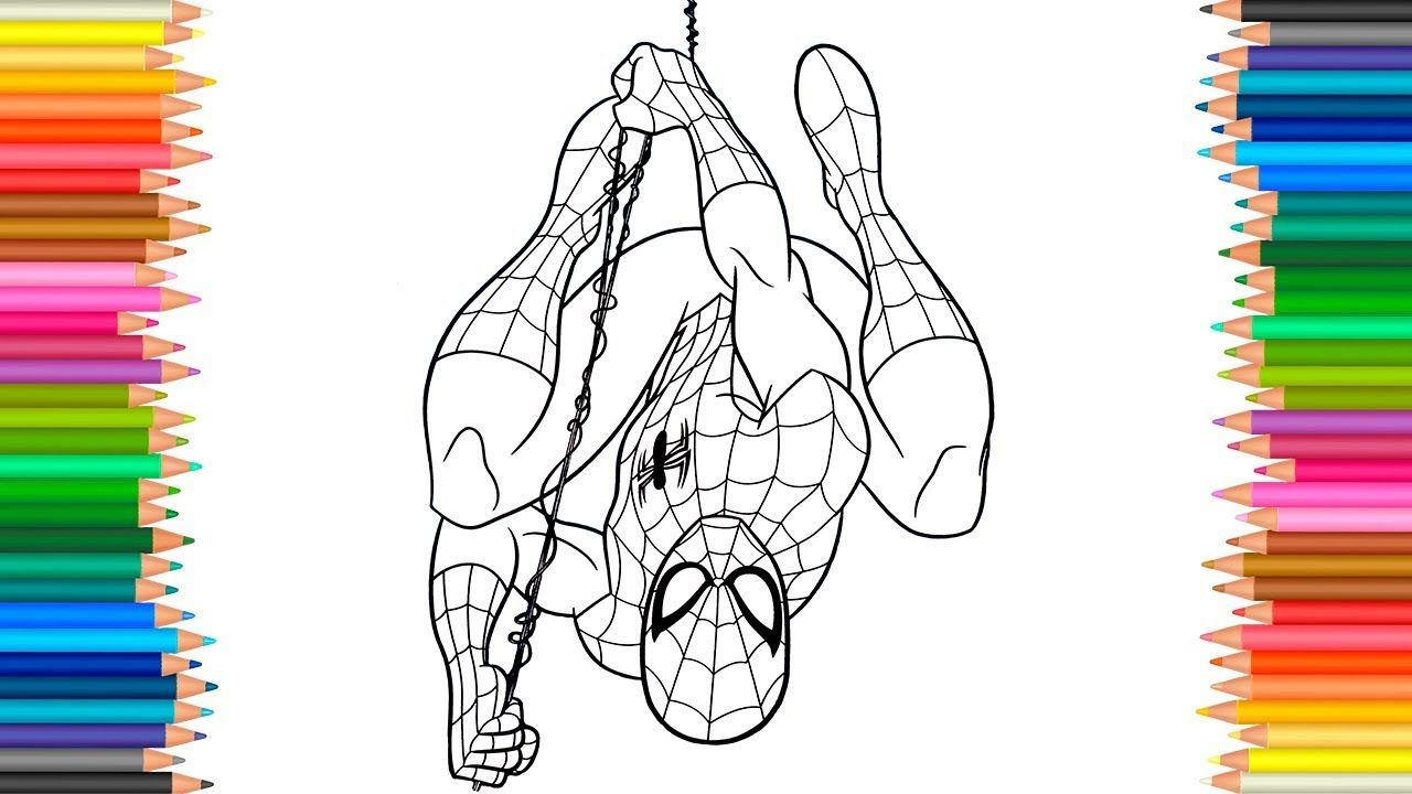 Spider Man Homecoming Coloring Pages L Coloring Markers Videos For Chil