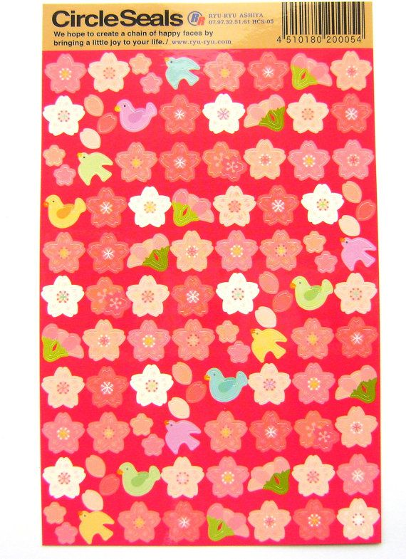 Beautiful Japanese Stickers Sakura Cherry by FromJapanWithLove