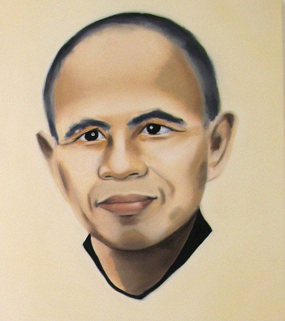 Thich Nhat Hanh by autumnrooney on Etsy, $25.00