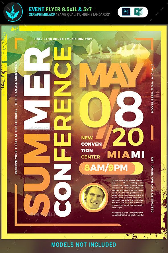 Summer #Conference Flyer Template - #Flyers Print #Templates. This ...