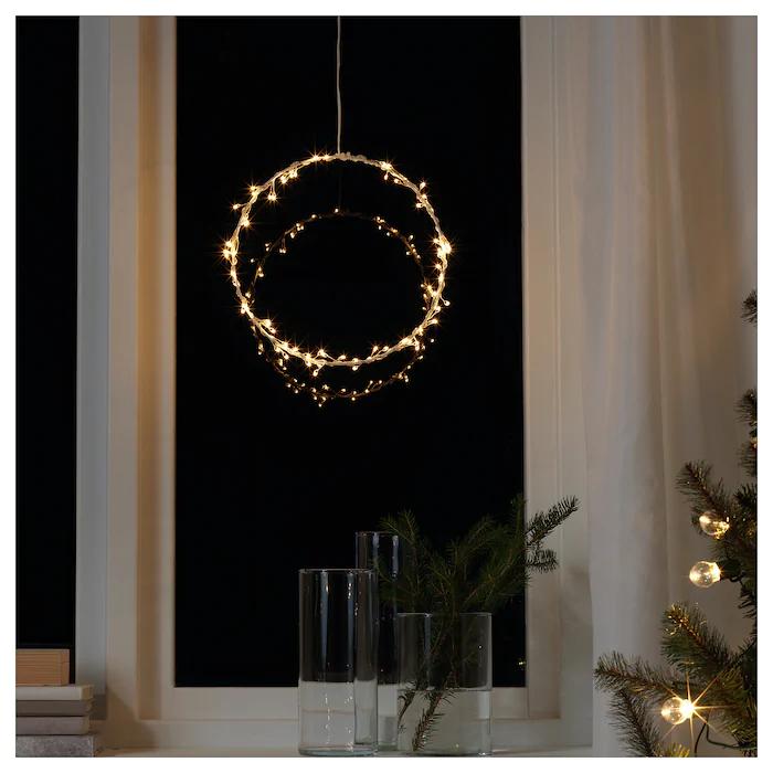 Strala Led Pendant Lamp Battery Operated Ring Shaped Ikea Pendant Lamp Ring Shapes Led Light Bulb