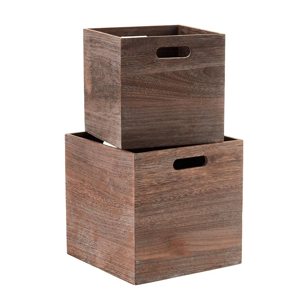 Feathergrain Wooden Storage Cubes With Handles Toy Storage Cubes Cube Storage Wooden Storage