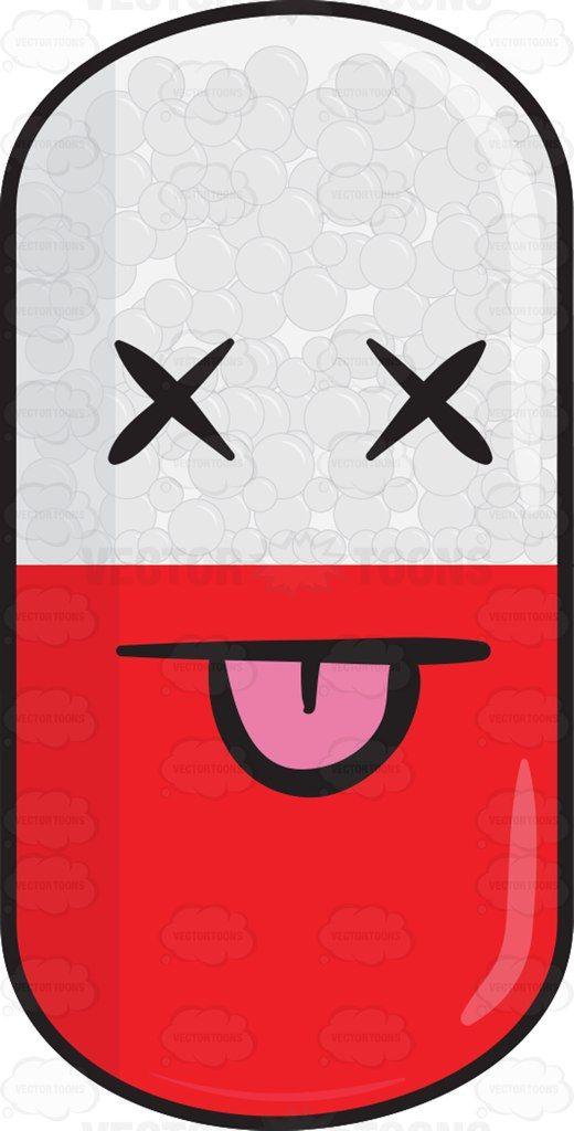 Knocked Out Medicinal Capsule Emoji Everything I Like Emoticon
