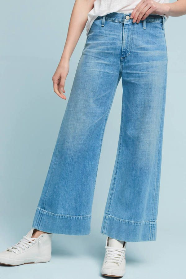 Citizens of Humanity Abigail High-Rise Wide-Leg Cropped Jeans ·  UsarPantalones Vaqueros CosechadosPiernas AnchasAnthropologieModa ... a7feff195be