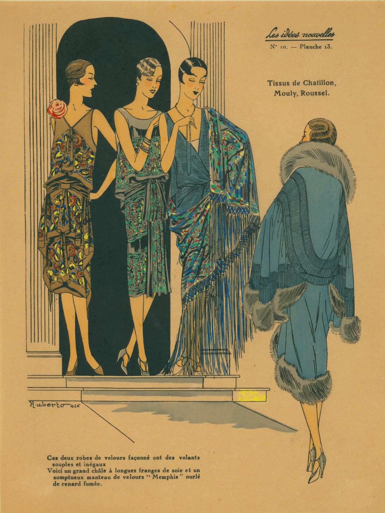 "jadymel: "" French Art Deco fashion plate from circa 1926 by Huberto """