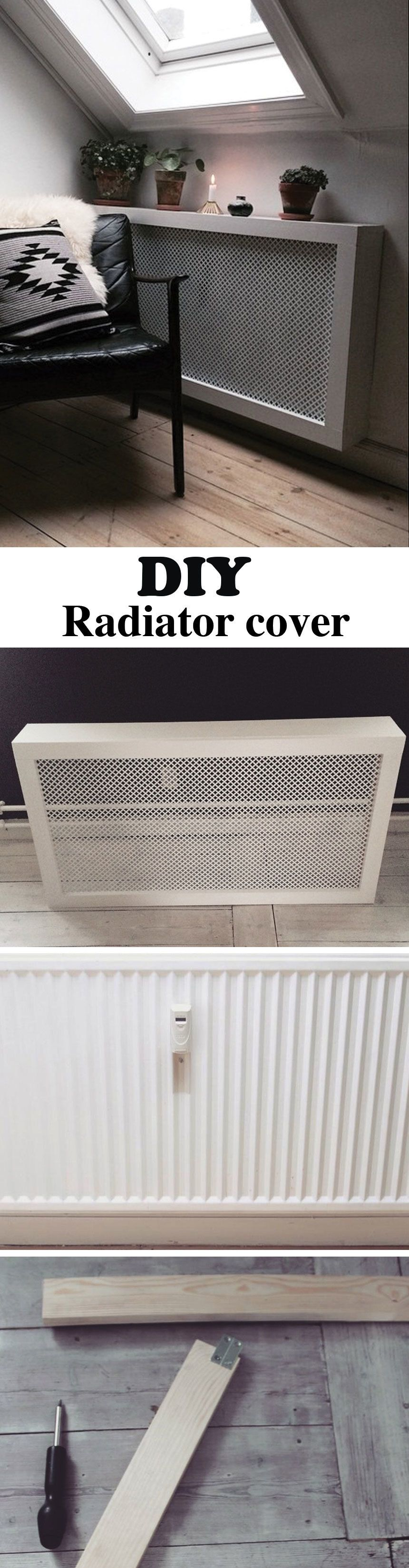 This DIY radiator cover is easy and cheap to make. It\'s the perfect ...