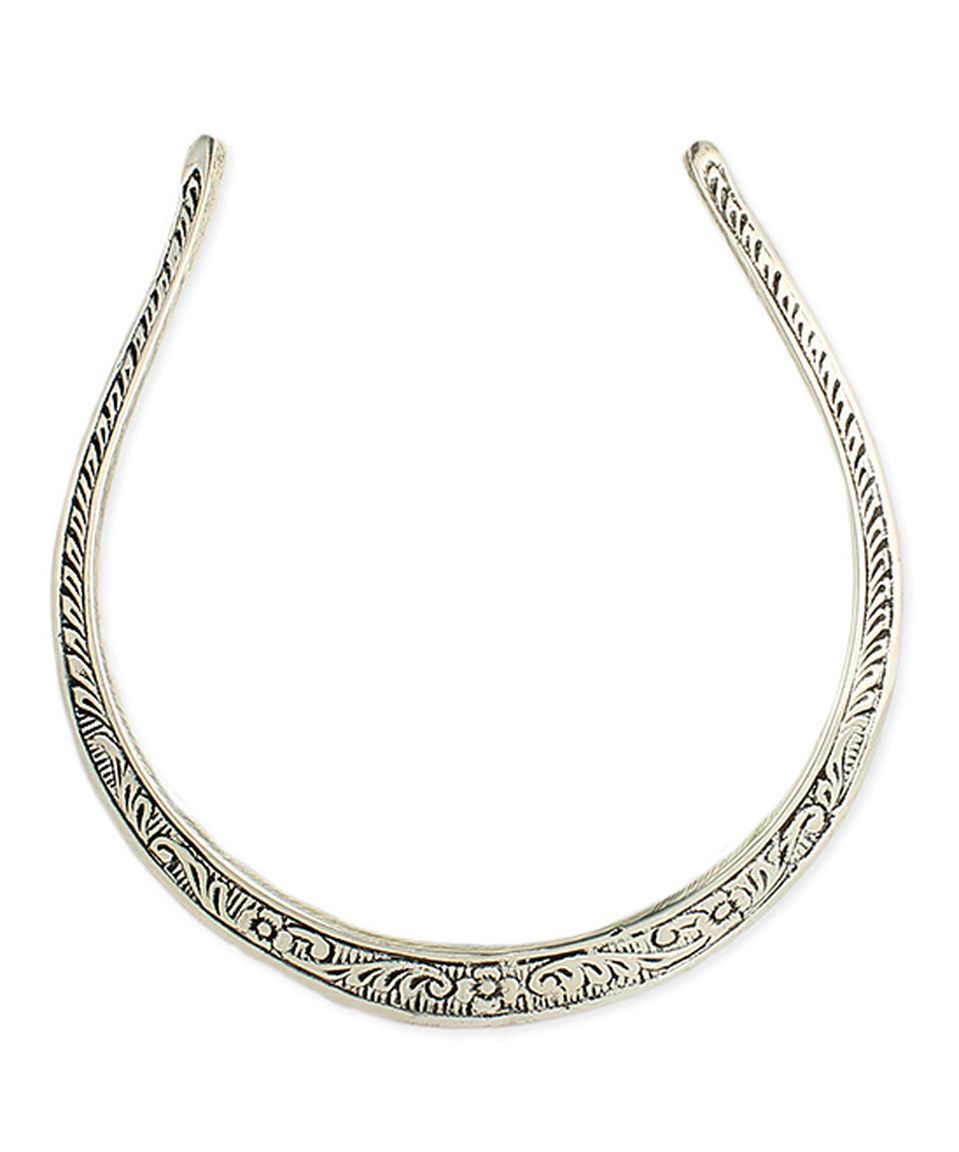 Another great find on zulily silvertone embossed collar necklace