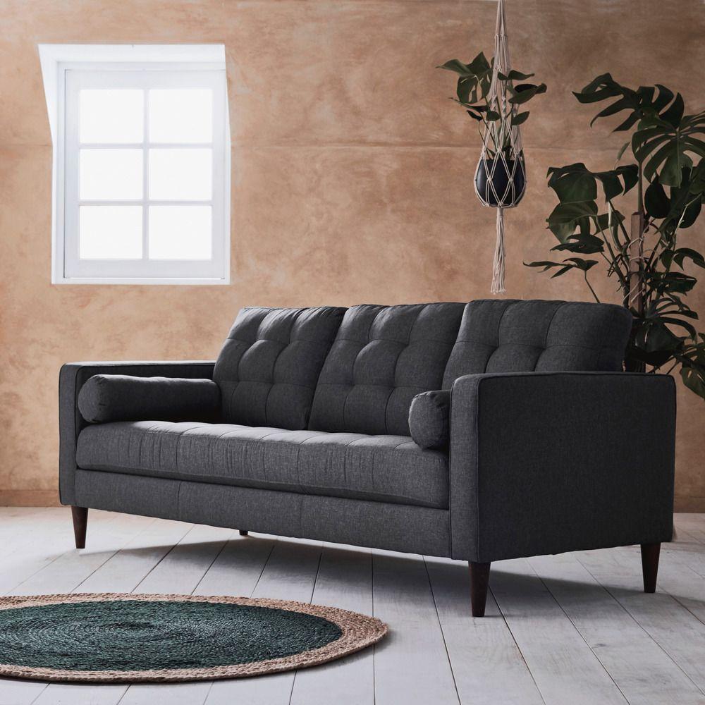 Fauteuil Lit Convertible Alinea canapé 3 places fixe en tissu gris restanque - alinéa en