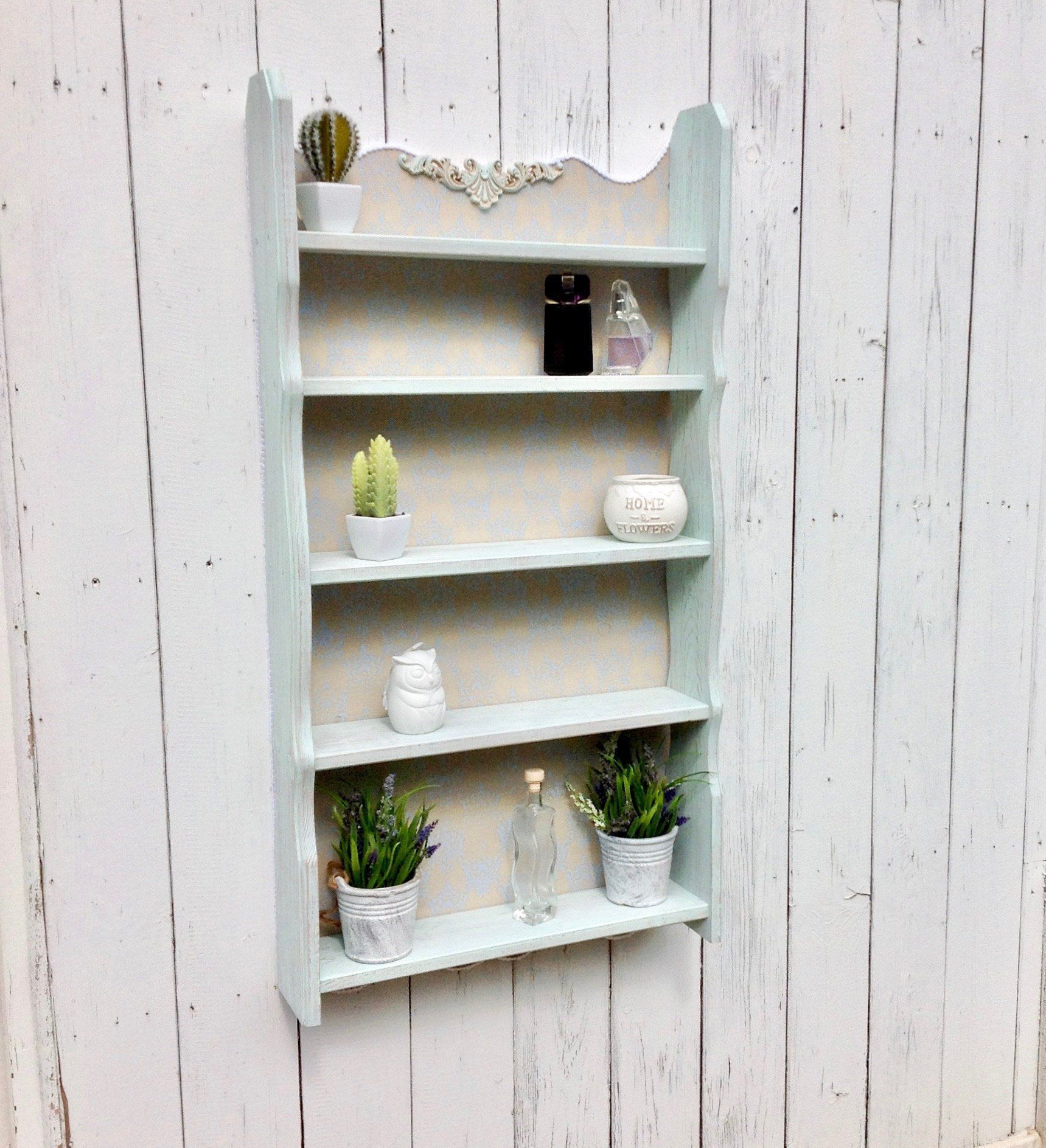 Wall Shelf Unit Open Shelving Curio Cabinet Wooden Display Cabinet Shabby Chic Shelves Shabby Chic Shelves Wall Shelf Unit Wooden Display Cabinets
