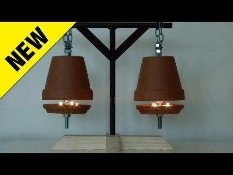 Watch How He Heats His Home For Just 4 Cents An Hour With This Brilliant Idea Diy Joy Candle Heater Flower Pots Diy Flower Pots