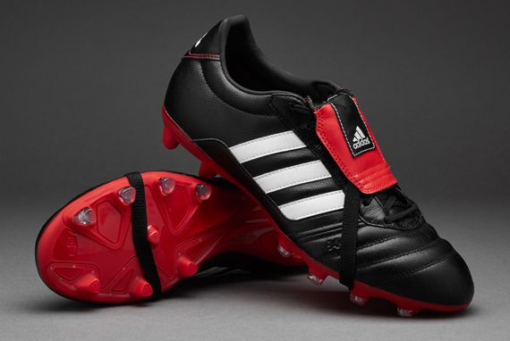 adidas Gloro - Mens Soccer Cleats - Firm Ground - Core Black/ White/Vivid  Red