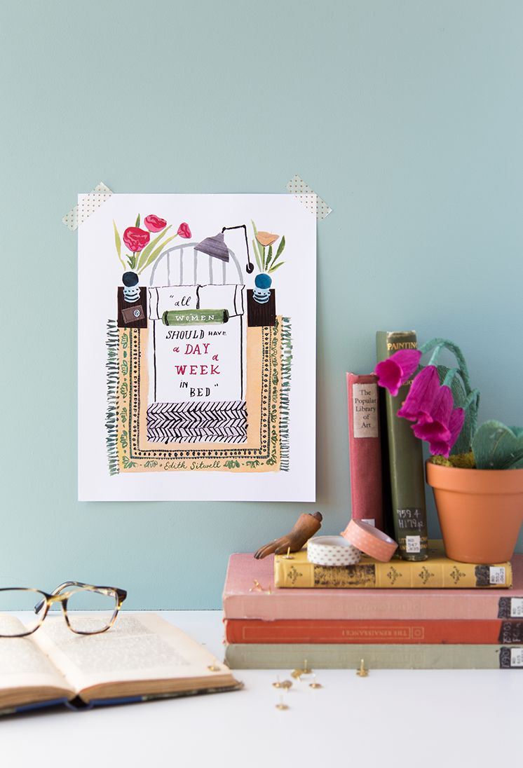 Daily rituals printable quote and bookmark diy wall art