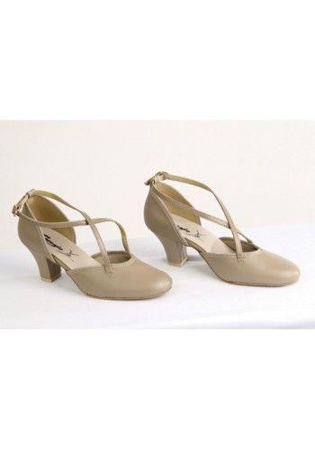 4b2764f8fe Sapato Feminino Dança de Salão em Couro Capezio Ref CJ06C