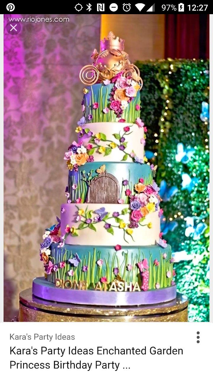Pin by CaitlinDanielle on Engagement | Fairy garden cake ...
