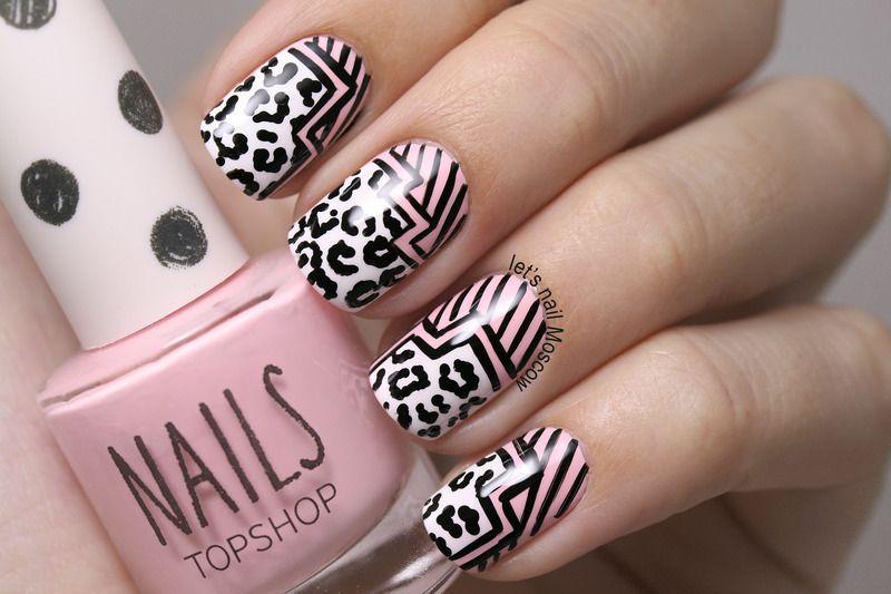 Nailpolis Museum of Nail Art | graphic nail art :) by Let's Nail Moscow