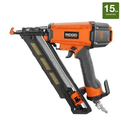 Ridgid 2 1 2 In Angled Finish Nailer R250afe The Home Depot Finish Nailer Nailer Tools