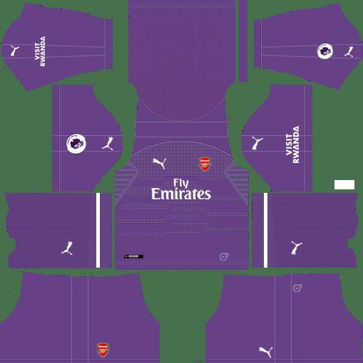 online retailer 10871 2616a Dream League Soccer Kits Arsenal 2018-19 Goalkeeper Away URL ...