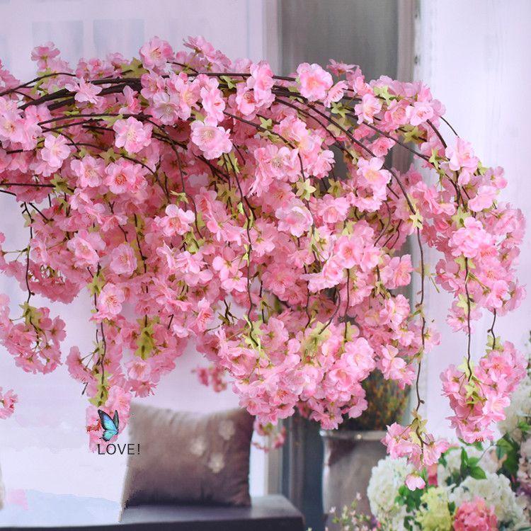 Weeping Sakura Cherry Blossoms Silk Flowers 5 33 Ali Baba Arvore De Cerejeira Artificial Flor De Cerejeira Decoracao Decoracao De Flores Do Casamento