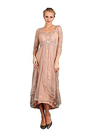 Women S Downton Abbey Vintage Style Wedding Dress In Quartz At