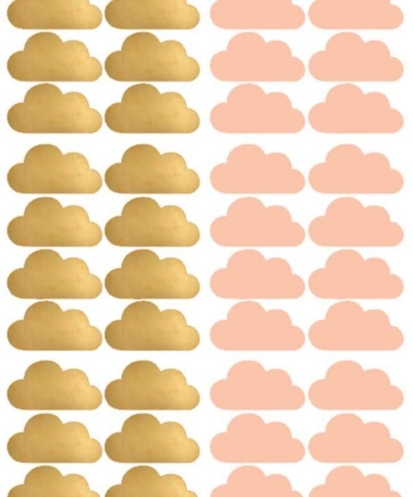 Pink Cloud Wall Stickers | Babies room | Pinterest | Pink clouds