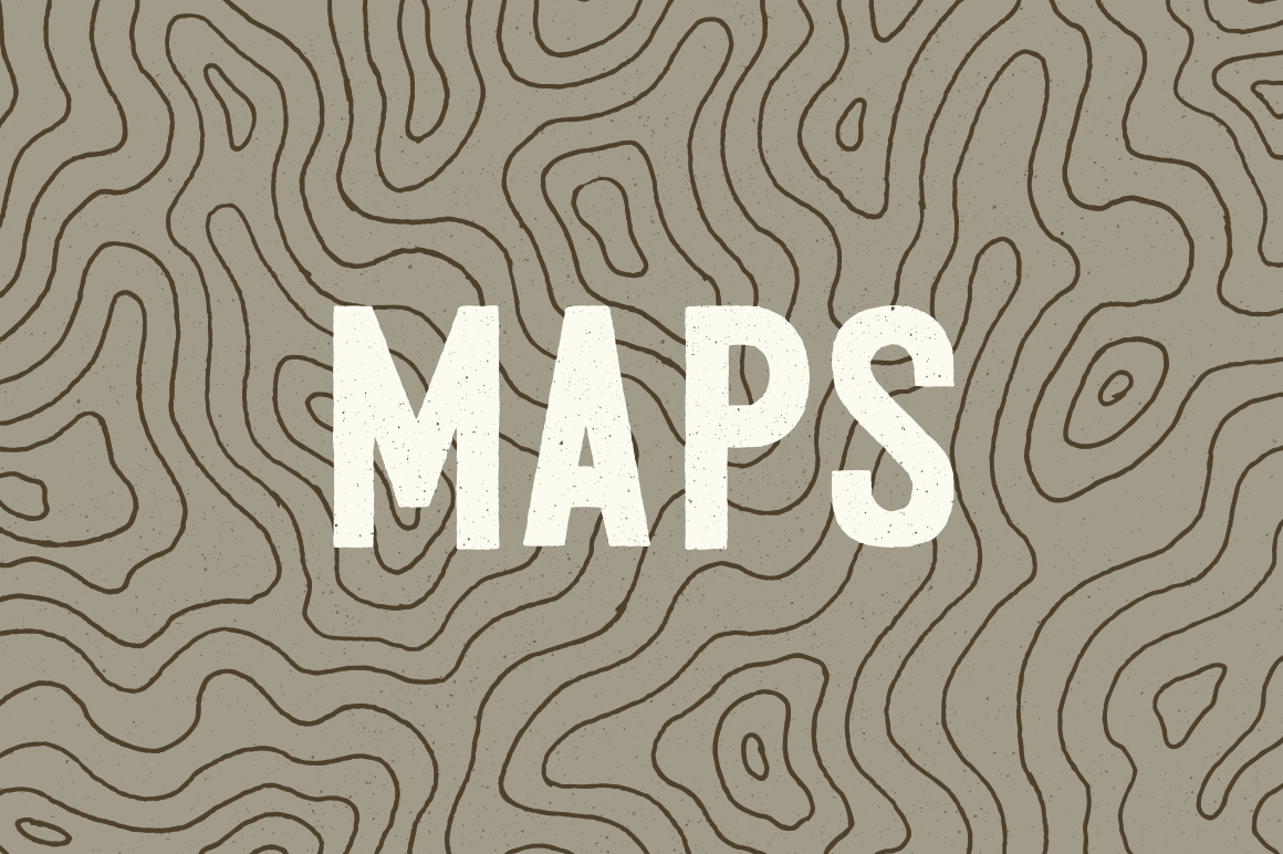 3 Topographic Elevation Maps Elevation Map Illustrated Map Map