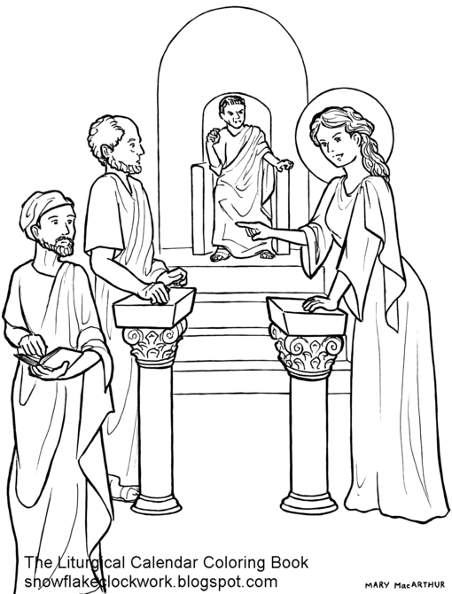 Sketches and Subcreations St Catherine of Alexandria coloring page