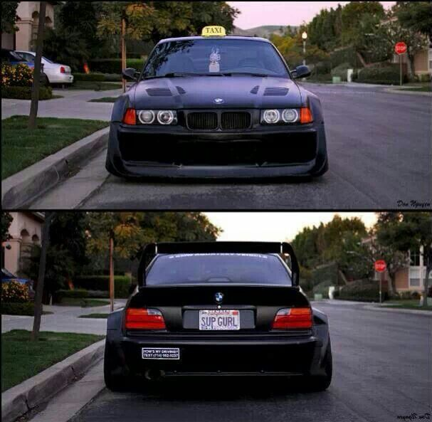 Bmw Z3 Drift Car: BMW E36 M3 Wide Stance Black