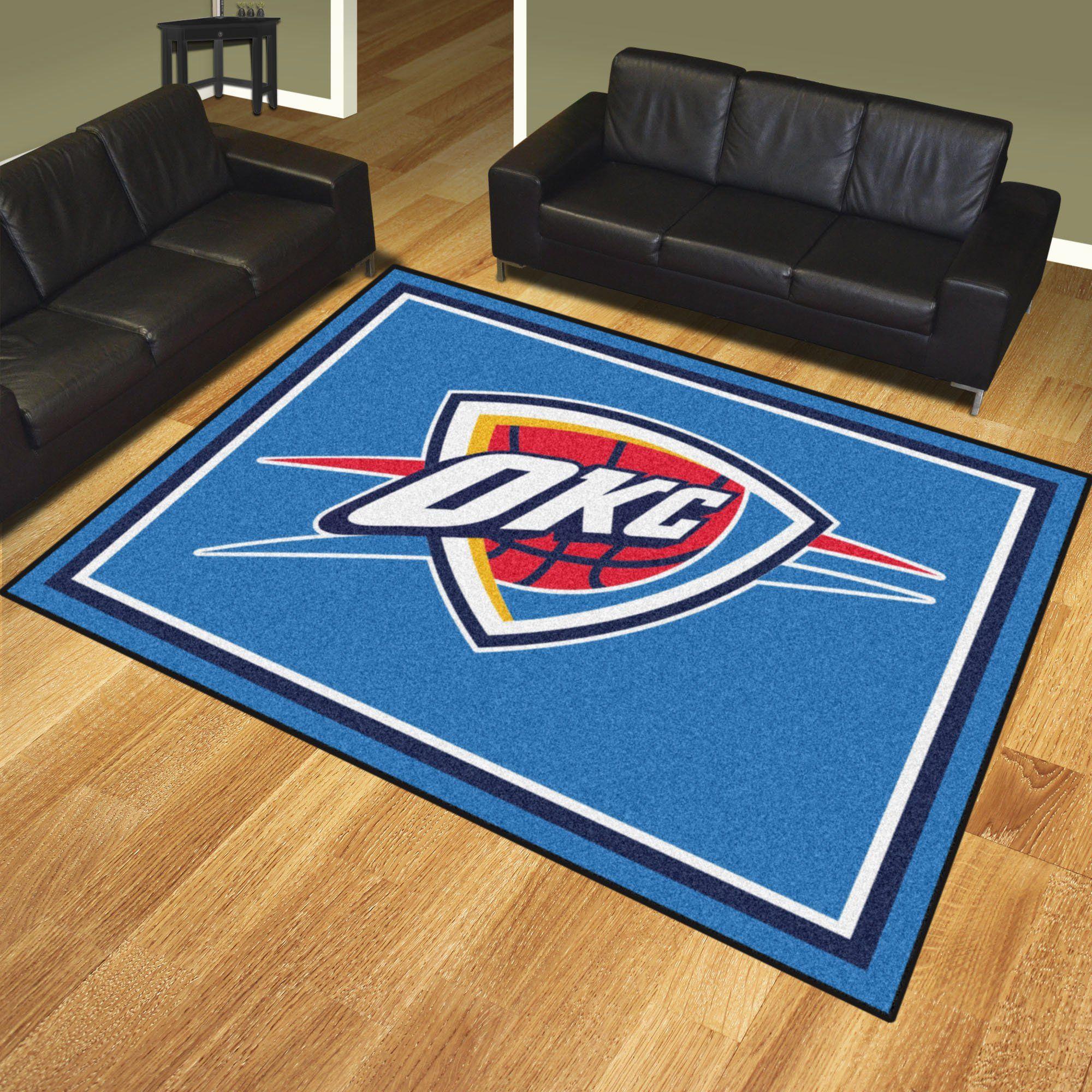 Nba Oklahoma City Thunder 8 X10 Rug Products Rugs 8x10
